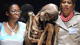 搞笑 木乃伊/美国展出近6500岁的娃娃木乃伊 死时仅有10月2011/06/21 09:40...