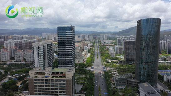 椰视频|瞰海南:航拍三亚中央商务区 加快打造海南自贸港建设标杆