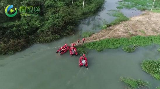 椰视频 | 五指山消防参加2020年防汛防风综合救援应急演练