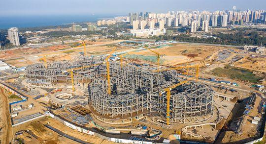 椰视频|瞰海南:海口国际免税城项目即将封顶