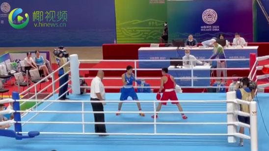 椰视频 | 全运会男子拳击52公斤级结束 海南选手刘壮尧惜败对手无缘8强