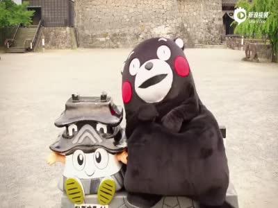 日本熊本县的吉祥物kumamon又唱又跳